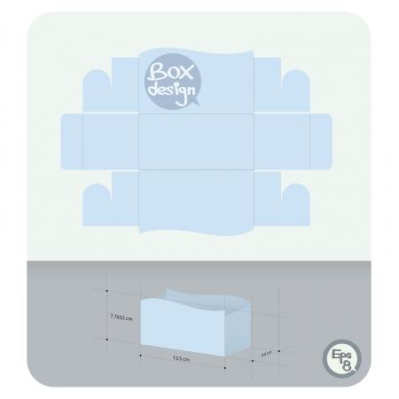 die: Vector Display paper box die cut