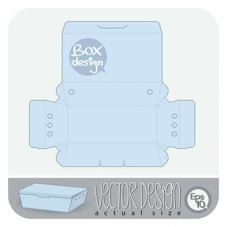 unwrapped: Vector Gift Box paper die cut  actual size   Illustration