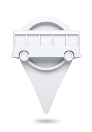 3D check in icon Bus ,design element  isolated  photo