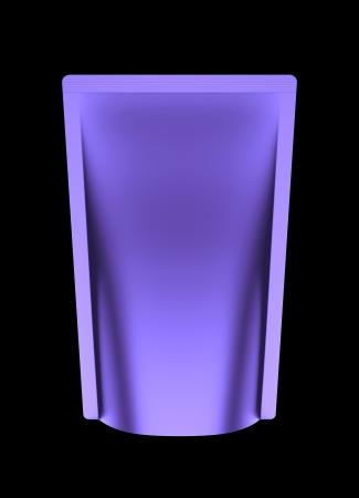 3D purple bag package, die cut photo
