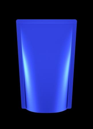 die cut: 3D blue bag package, die cut