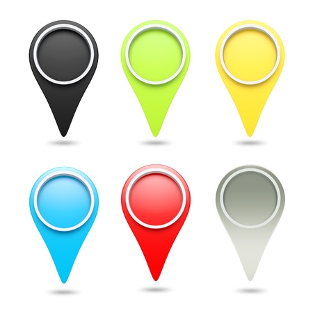 check in: 3D check in icon website set of 6 design element  isolated Stock Photo