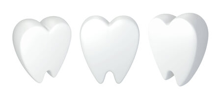 dentin: 3D Icon white tooth model illustration, isolated  Stock Photo