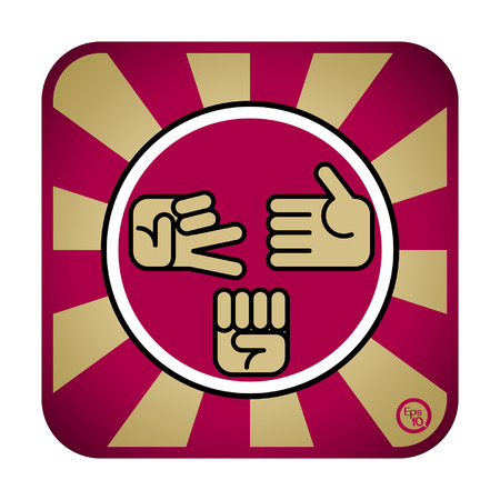 gambling stone: Rock scissors and paper icon design vector