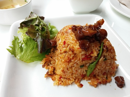 goong: Tom Yum Goong fried rice food in thailand