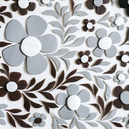 matiere plastique: Fleur Artisanat fond � la main, mati�re plastique ondul�