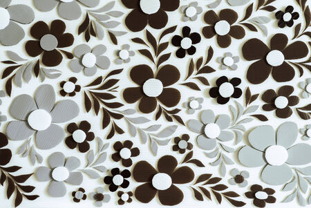 plastic material: Flower Craft handmade Background, corrugated plastic material
