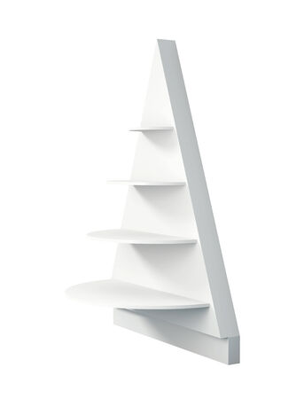 bar area: 3D Christmas tree shelves and shelf design,isolated