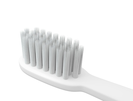 tidiness: 3D Head Toothbrush, isolated