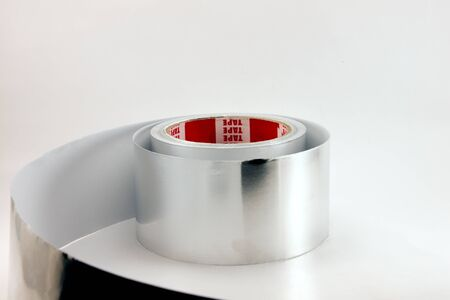 aluminium tape on a white background photo
