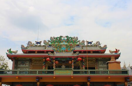 chinese temple style in Thailand photo