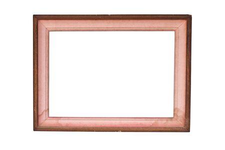 Wood frame isolated on white background photo