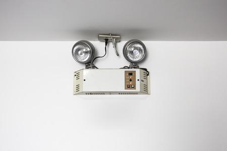 salidas de emergencia: luces de emergencia con dos lámparas