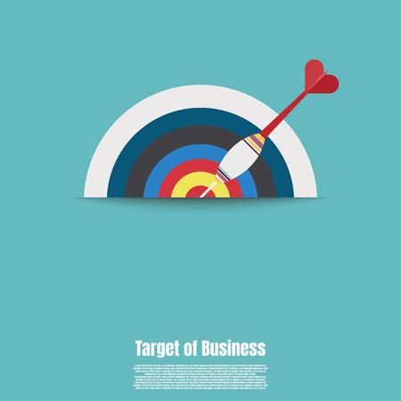 Business target market concept. Success target symbol. Target with an arrow flat concept market goal. Achievement goal. Illustration vector flat