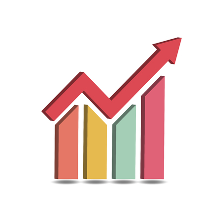 Business Graph Icon Vector 3D