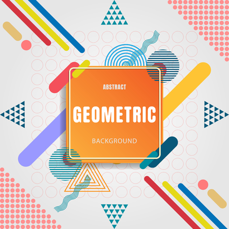 Abstract Geometric Design. Vector illustration of modern abstract background