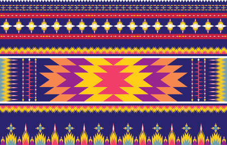 Abstract ethnic geometric ethnic pattern traditional Design for a background. Carpet. Wallpaper. Clothing. Wrapping. Batik. Fabric. sarong. Vector illustration embroidery style