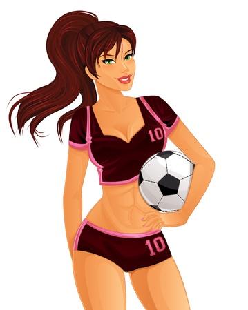 Jugador de fútbol femenino Foto de archivo - 21635783