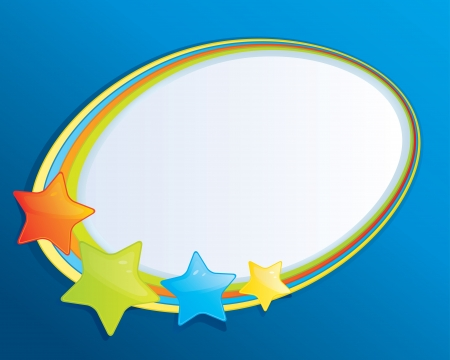 Bubble Speech with Stars Stock Vector - 21635816