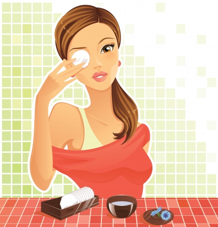 woman washing face: Healthy eyes