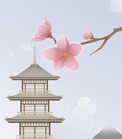 cherry blossom tree: Japan Background