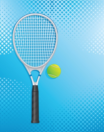 Racket tennis Illustration