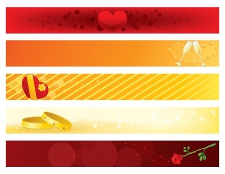 inlove: Web Banners Illustration