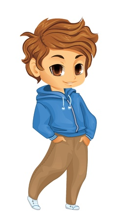 Cute little boy Illustration