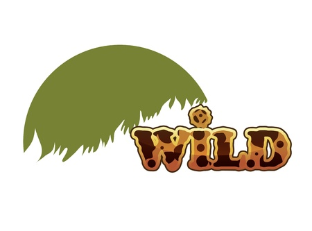 Wild text eps10 Illustration