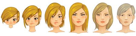 Leeftijd Process Portraits op verschillende lagen