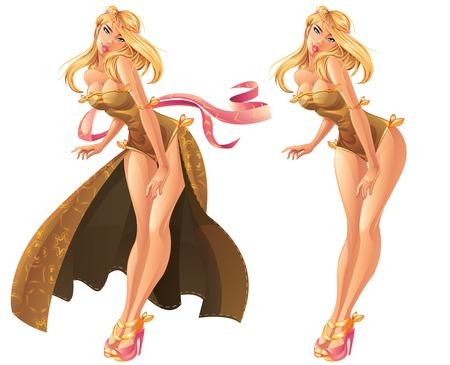 Beautiful Goddess Illustration