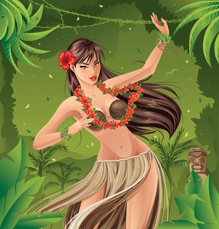 hawaiian culture: Hula Dancer