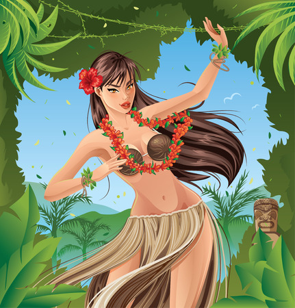 exotic dancer: Hula Dancer