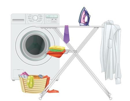 lavadora con ropa: Electrodomésticos