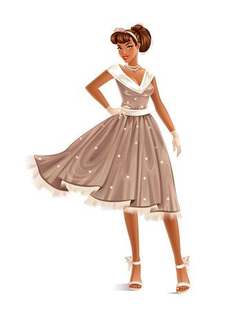 レトロなドレス