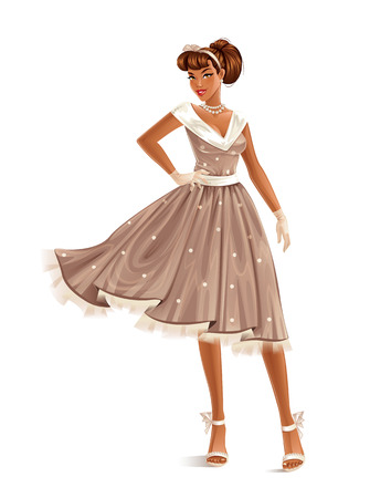 Retro Dress Ilustracja
