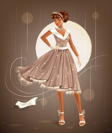 pinup: Retro Dress Illustration
