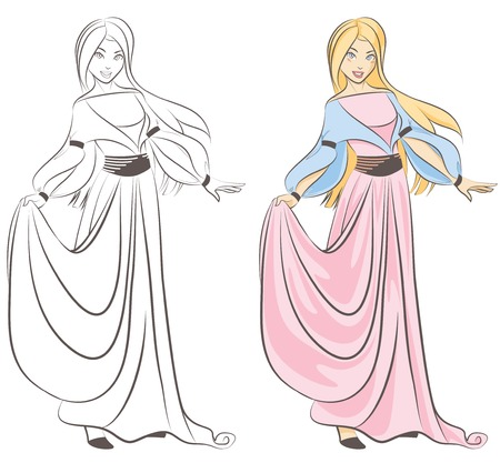 Princess for Colouring