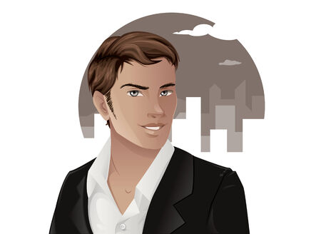 Man in Suit 矢量图像