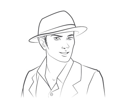 Handsome Man Wearing Hat
