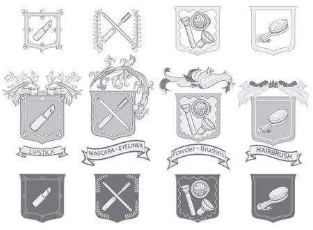 Set of Cosmetics in heraldic style