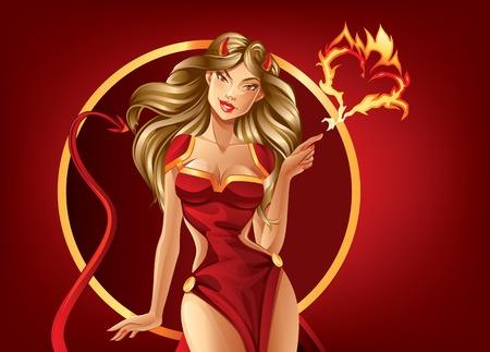 Beautiful Temptation Stock Illustratie