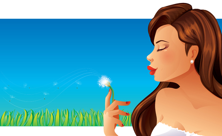 chill out: Woman and Dandelion