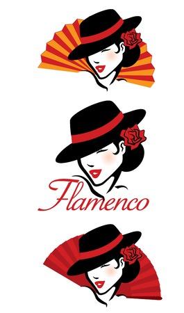 white fan: Flamenco Concept
