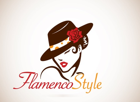 t�nzerinnen: Flamenco-Konzept Illustration