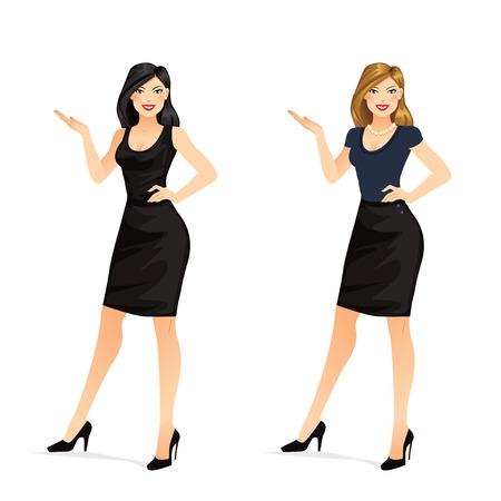 fullbody: Woman Presenting