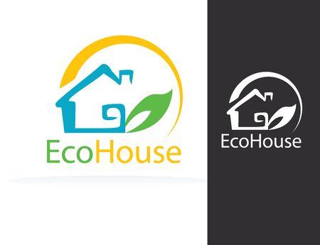 Eco House 矢量图像