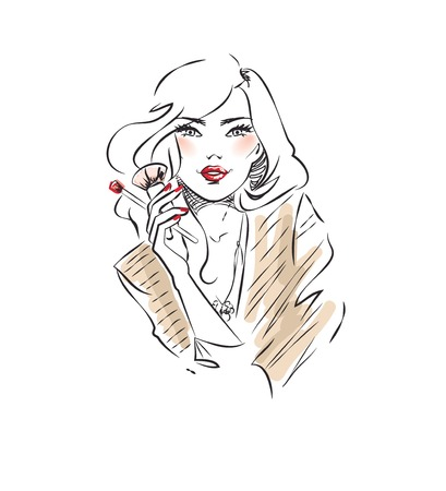make up face: Beautician Illustration
