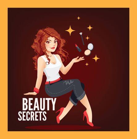 Secrets de beauté Vecteurs