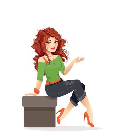 sassy: Redhead